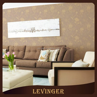 Levinger Fashionable Free Sample 3D Coloful Flower Rattan Modern Style Wallpaper