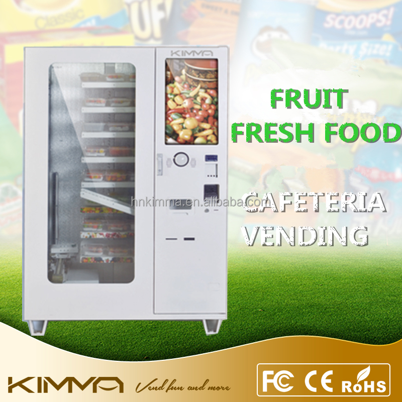 Automatic hot fast food vending machine in conveyor delivery