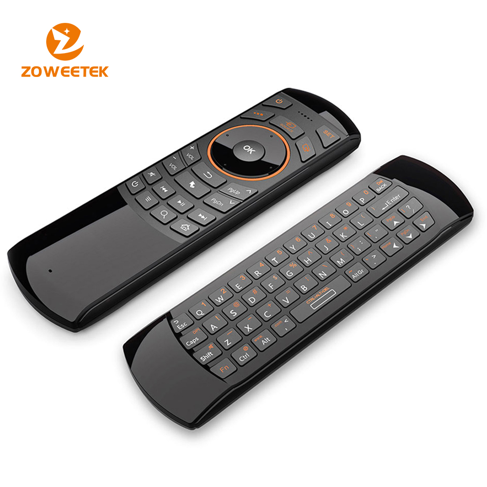 3 in 1 Fly mouse Wireless Keyboard with IR remote control and Microphone & Earphone Jack