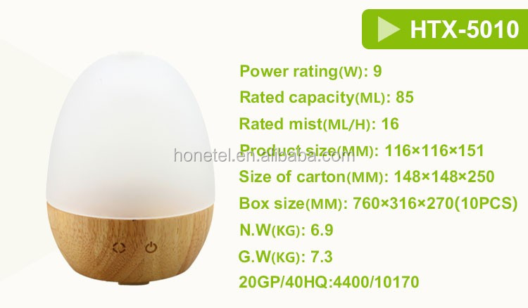 Amazon top seller 2018 OEM/ODM wooden Portable touch control electric LED Night Light Essential Oil Ultrasonic aroma diffuser