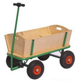 WOODEN BEACH TROLLEY CART KIDS CAMPING FOLDING WAGON
