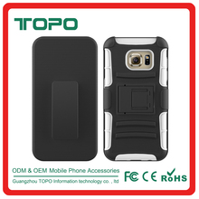 [TOPO] TPU PC Silicone Material combo shockproof antiskid phone case with holder for Samsung galaxy S7 G9300