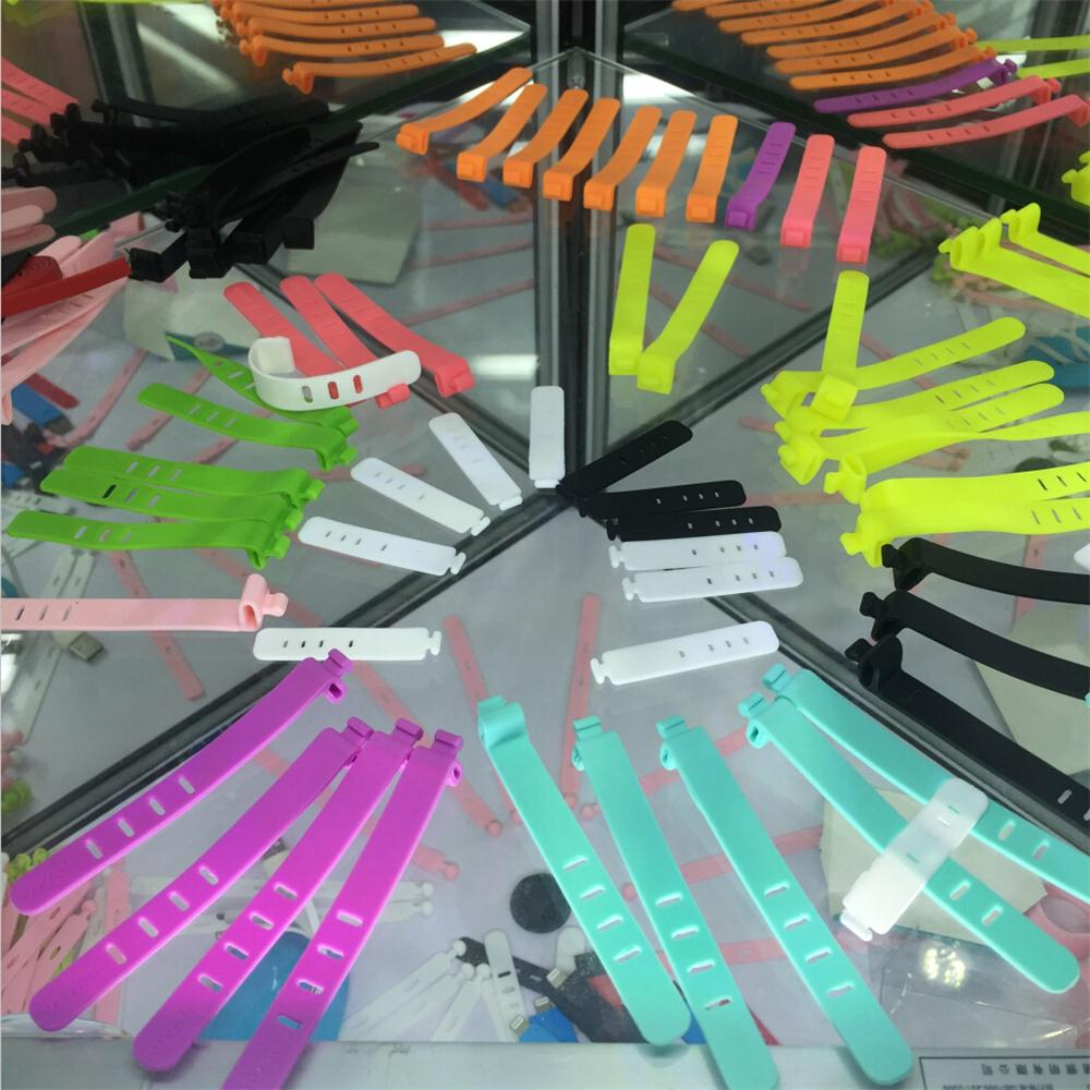 Wholesale flexible silicone rubber twist cable tie holder for wire