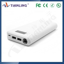 Portable LED torch light dual usb 24000mah power bank with LCD