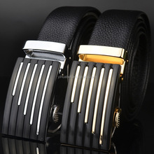 Cheap Waist Automatic buckle genuine leather men's belt