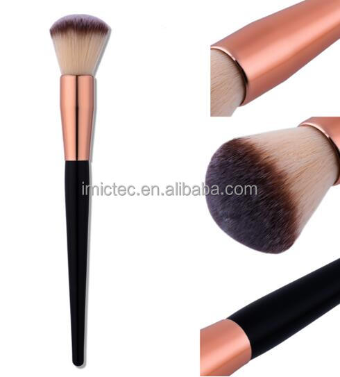 Hot Sale Rose Gold Powder Blush Brush Professional Large Cosmetics Makeup Brushes Rose Golden Foundation Make Up Brush Tools Big