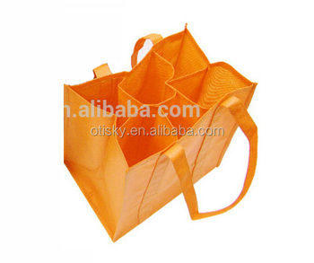 Nonwoven wine 6 bottles bag