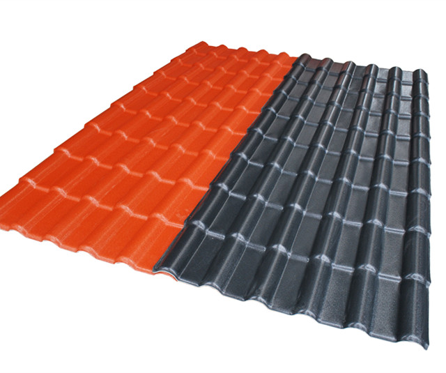 Apvc resin roofing tile / Heat proof synthetic terracotta roof tile price