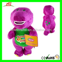 LE-D526 CUTE Barney The Dinosaur Singing and Dancing Purple Plush Toy Doll