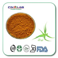 Natural and pure aloe vera extract brown yellow fined powder