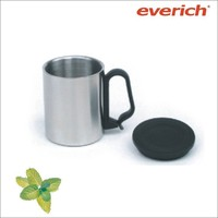 220ml double wall stainless steel coffee cup with handle