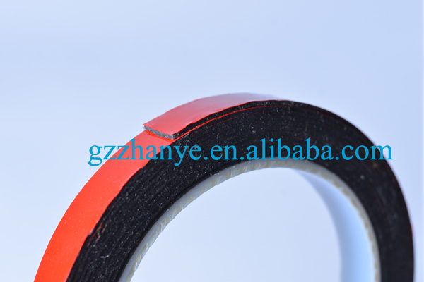guangzhou manufacturer 1mm thickness customize red double side foam tape