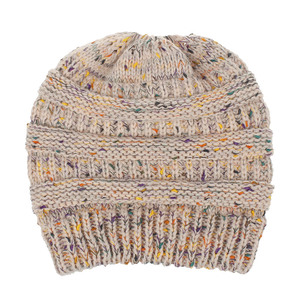 9 colors alpaca woolen dotted yarn ponytail adult accessories slowchy  chunky crochet ladies hats winter women 67ed94c354b7