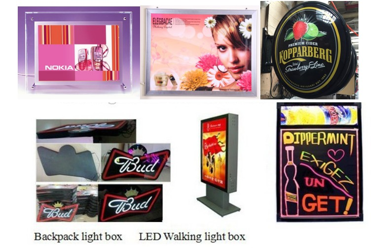 LED ultra thin lighting box, factory new design hot sell double sided led super thin light box for indoor advertising