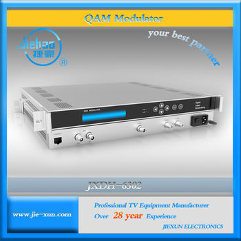 Low cost multi channel ASI input DVB-C QAM modulator output 4 channel RF