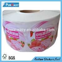 High quality frozen food label and sticker printing