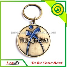 Engraved antique metal key ring