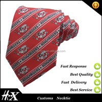 stripe silk woven necktie with customize logo