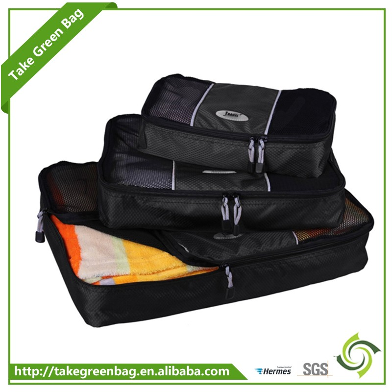 Eco-friendly washable travel polyester storage bags for clothes