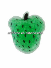Artborne green color gel fruit shape cute design cooling beads