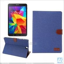 Jean stand leather tablet case for samsung galaxy tab a t555 9.7 inch cover