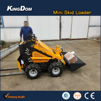 Mini skid steer loader in stock with 21hp engine, engineering tire, a bucket