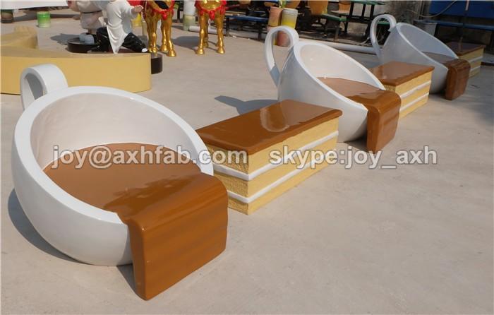Muebles creativo mesa de fibra de vidrio y silla taza de - Muebles de fibra de vidrio ...