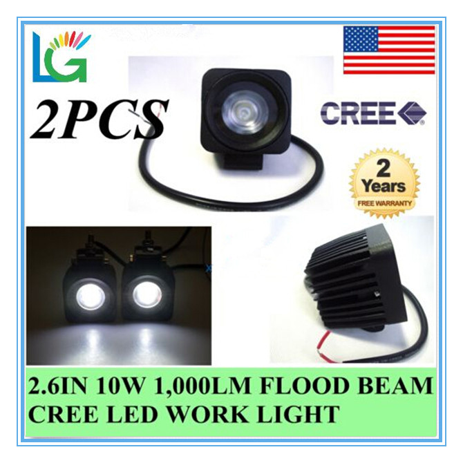 IP68 waterproof off road driving lights 12V LED boat lights 2 inch cree led work light 10w