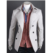 walson winter new design vogue men's wool trench coat