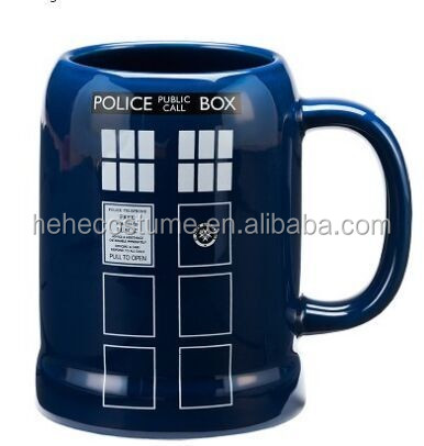 2016 New design DOCTOR WHO TARDIS 20 OZ. CERAMIC STEIN