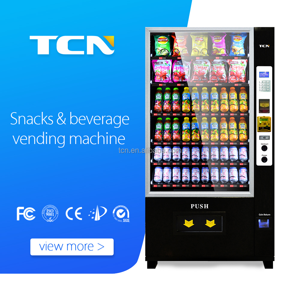 cheap black white large capacity snack drink combo cashless vending machine for sale