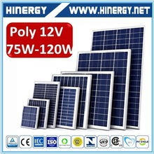 Small size 120w poly solar panel with tuv iec ce iso certification solar panel 120 watt for air conditioner