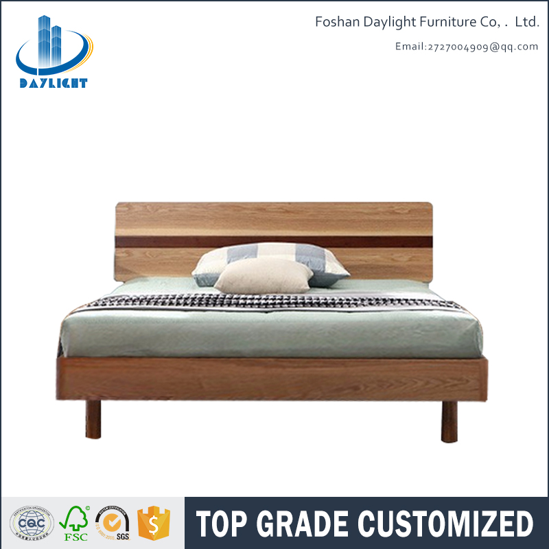 Latest double wooden bed sofa bed design furniture DL-E04
