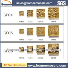 Luxury 24k real gold glass mosaic tile