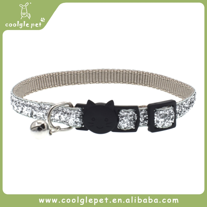 Glitter Material Safety Buckle Luxury Pet Collar Wholesale for Dog Bling Cat Collar