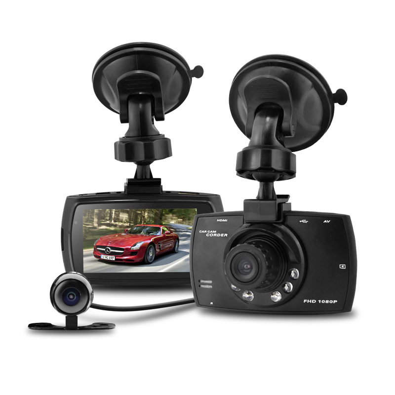 new arrival 2.7 inch 140 degree 1080p full hd dual lens vehicle car camera for car dvr video recorder