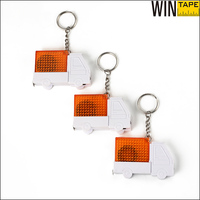 Car Shape led light Custom measurement keychain with Your Logo