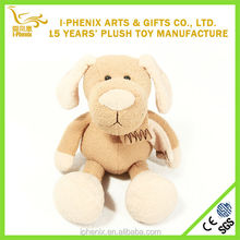 OEM stuffed plush toy exclusive Innocente dog toy with scarf gift for baby child