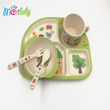 5pcs Eco-Friendly Bamboo Fiber dinnerware sets bamboo table and chairs set price/ bambookitchen knife set