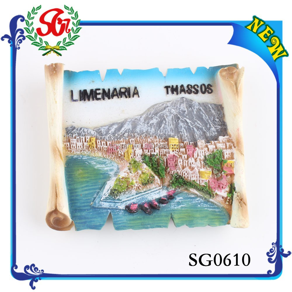 SG0610 Good Quality Popular Promotional Country 3d Souvenir Fridge Magnet Sheet