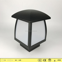 High quality black quadrilateral outdoor lighting 4502 pillar lamp