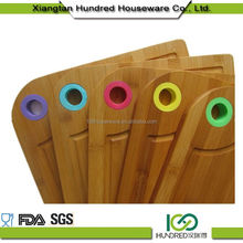 Customized Welcome Wholesales Color Silicone And Bamboo Cutting Board