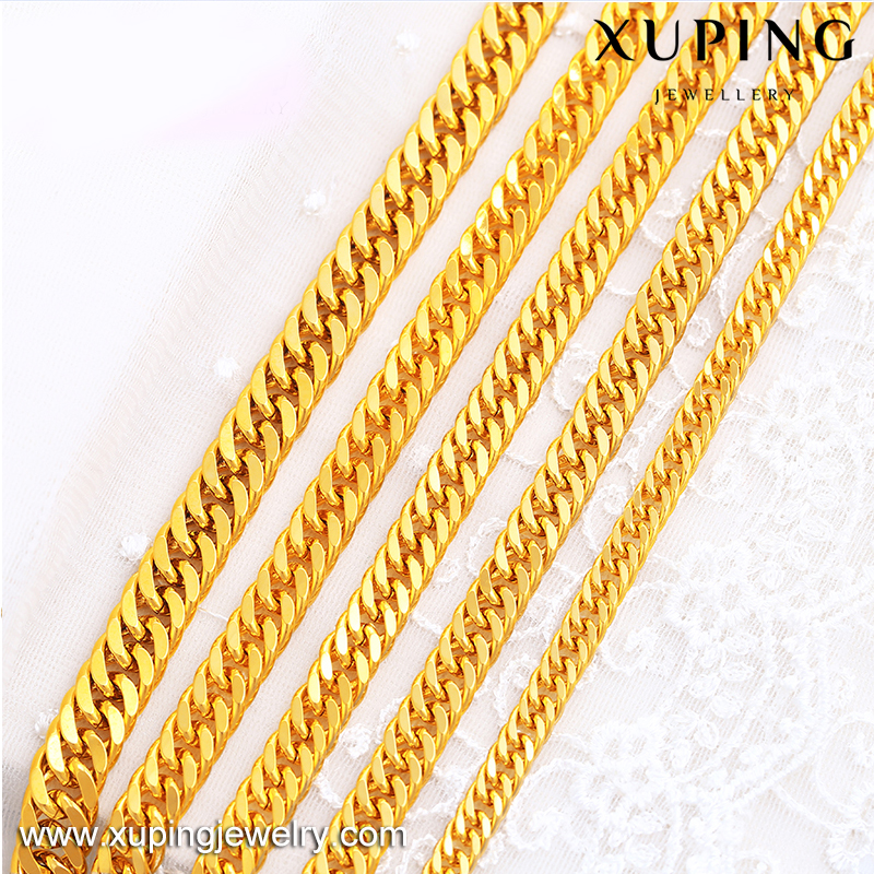 xuping imitation jewelry dubai 24K gold plated chains necklace for men