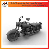CNC machining custom metal/plastic toys, cool moto model/prototype