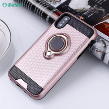 Top Sale Cell 3 in 1 Ring Phone Case Cover for iPhone 8 for Samsung Note 8 and for Redmi Note 4