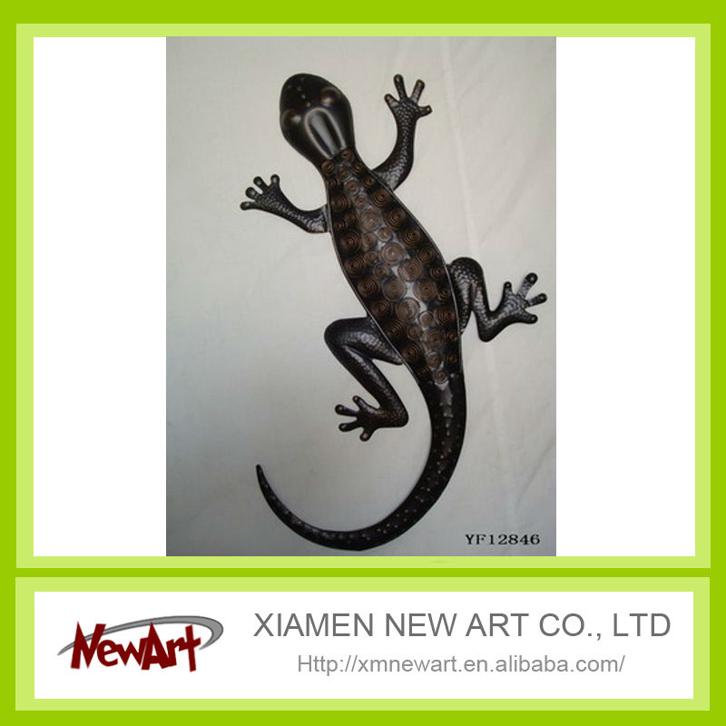 decorative gecko metal lizard