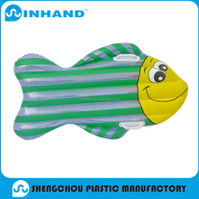 2016 factory production EN71/ASTM approved fashion durable fish-type pvc inflatable air mattress/float lounger/mat