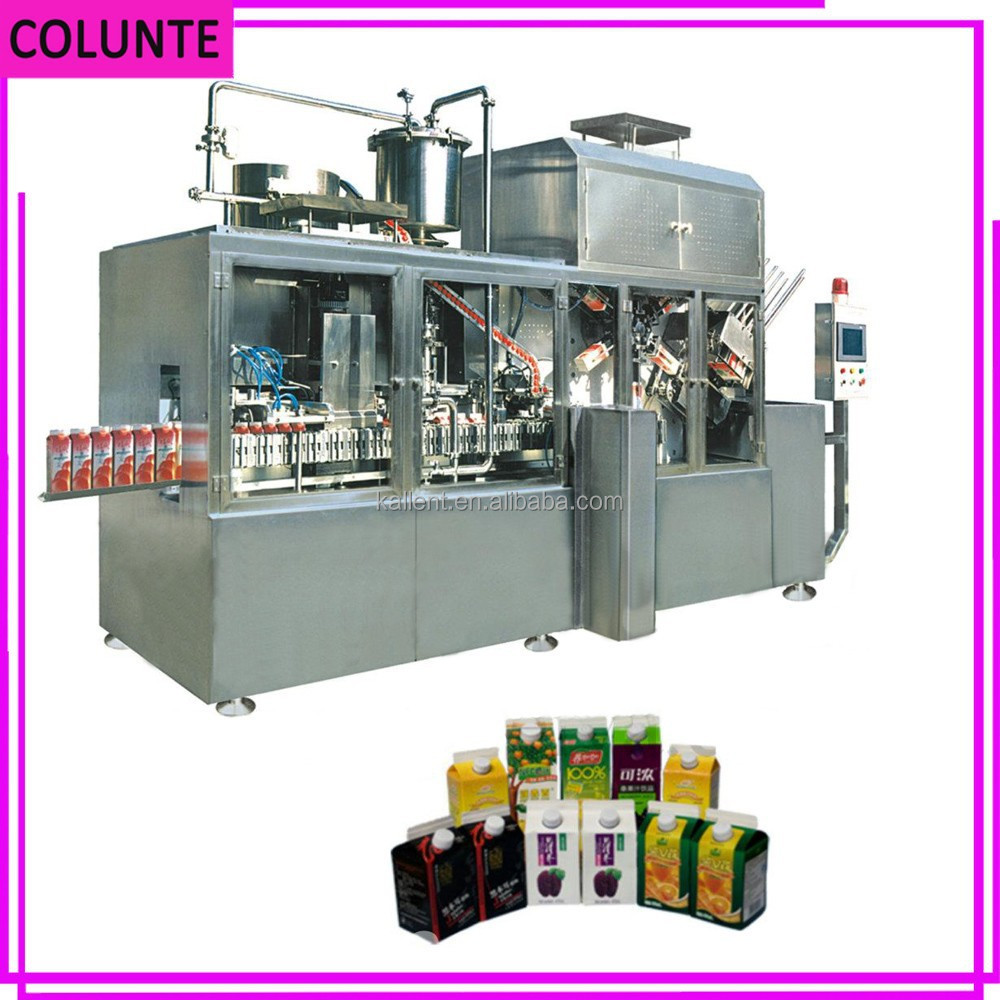 Henan Colunte KAT-1500 full automatic gable top grease filling machine