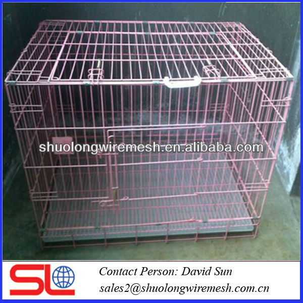 metal anticollision modula pet cage,beautiful economical small steel bar collapsible pet cage ,expanded double cheap cage .