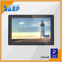 Support external 3G 10.1inch android wall mounted advertising display touch screen table
